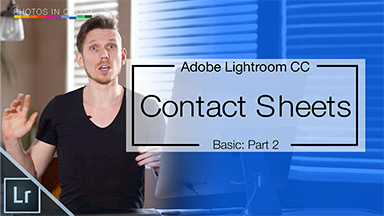 Creating Contact Sheets in Adobe Lightroom